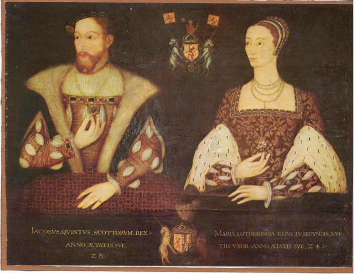 Portrait of James V and Mary of Guise, anonymous artist, c. 1542, at Falkland Palace