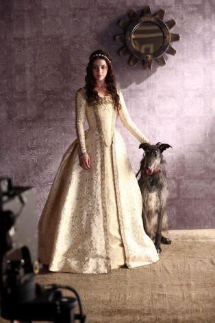 Reign-Mary with Irish Bloodhound